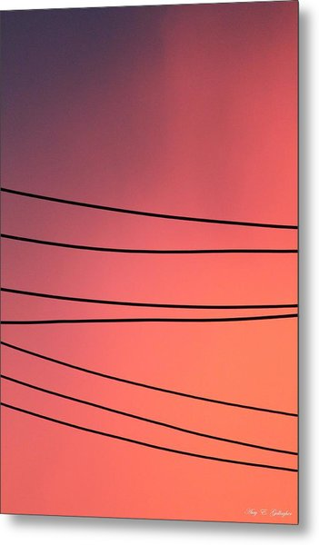 Black Lines And Night Skies  Metal Print