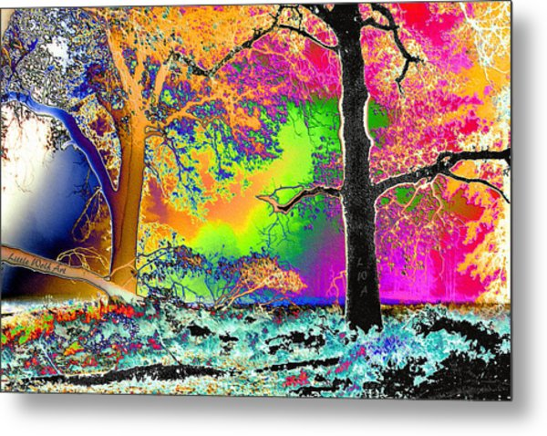 Black Oaks Yosemite Abstract Metal Print