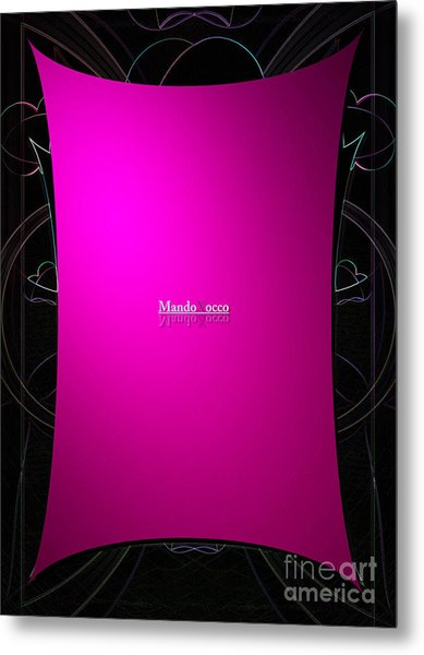 Black Pink Metal Print