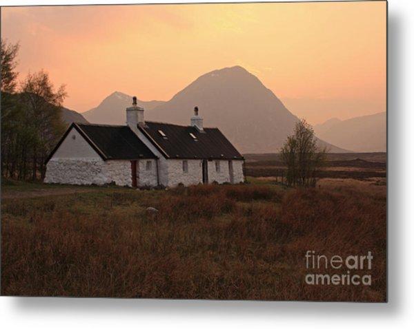 Black Rock Cottage Sunset Metal Print