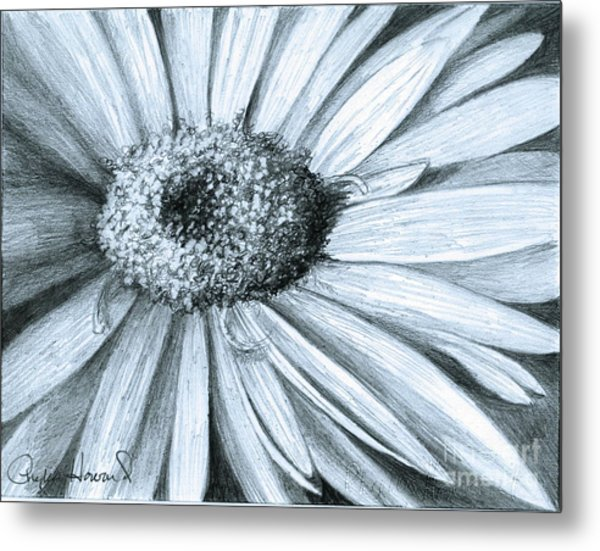 Black White Gerber Metal Print