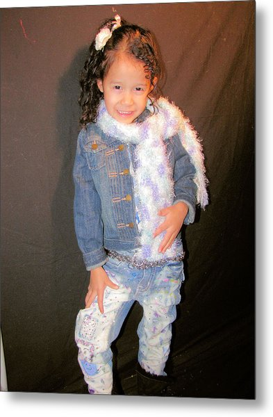 Bleach And Painted Jeans Metal Print by HollyWood Creation By linda zanini