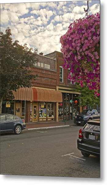 Blind Georges And Laughing Clam On G Street In Grants Pass Metal Print