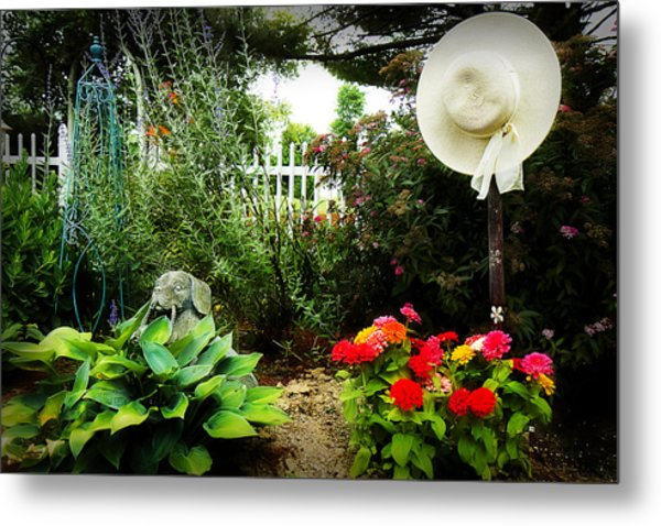 Blissful Garden Metal Print by Trudy Wilkerson