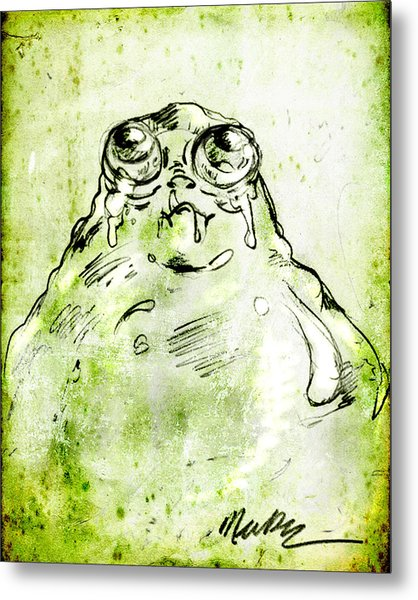 Blob Monster Metal Print