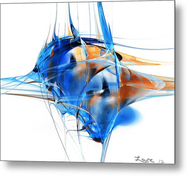 Blue Abstraction Metal Print