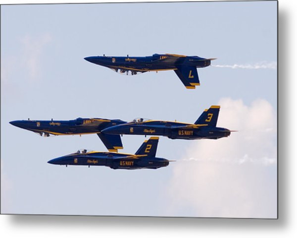 Blue Angels Metal Print by Zannie B