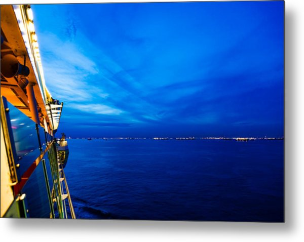 Blue At Sea Metal Print