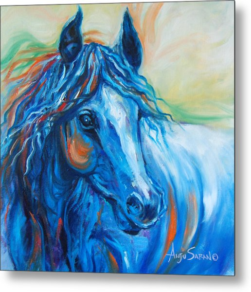 Blue Beauty Metal Print by Anju Saran