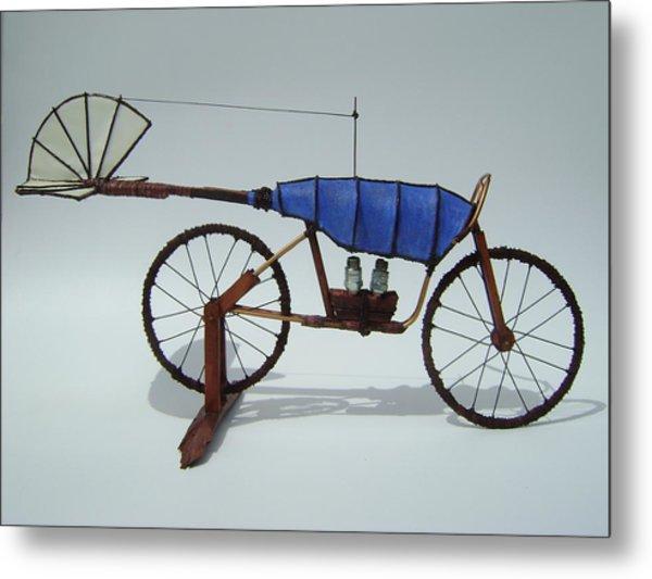 Blue Caravan Metal Print