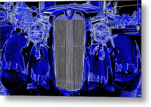 Blue Coupe Metal Print