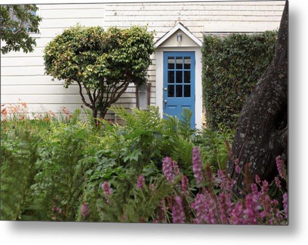 Blue Door Metal Print by Denice Breaux