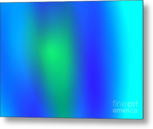 Blue Green Abstract Metal Print