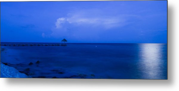 Blue Metal Print by Guillermo Luengas