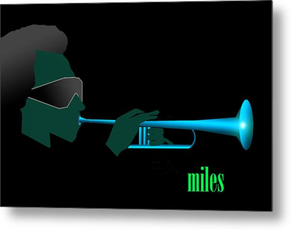 Blue In Green Metal Print by Victor Bailey