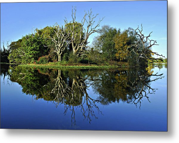 Blue Lake Reflections Metal Print