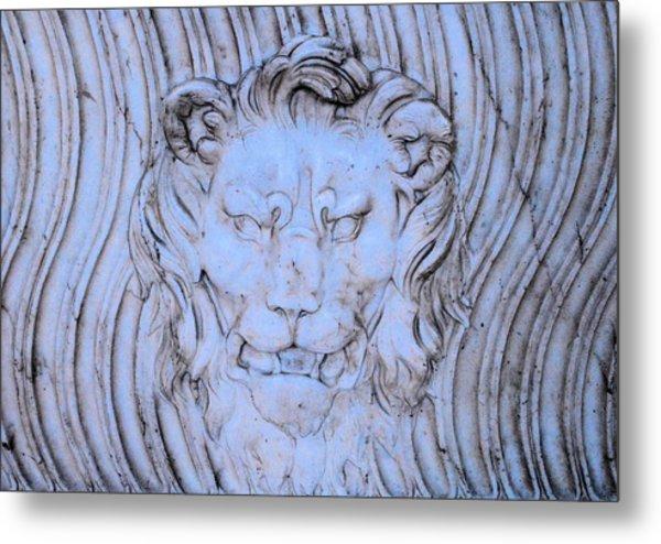 Blue Lion Metal Print by