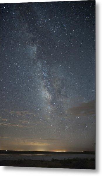 Blue Milky Way Metal Print