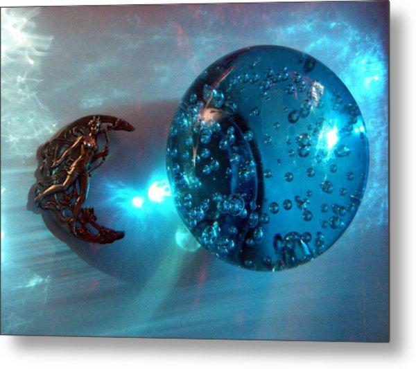 Blue Moon 2 Metal Print by Maria Evangelatou