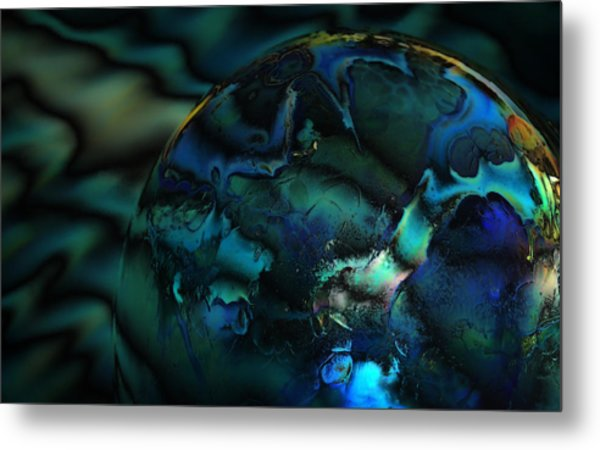 Blue Planet Metal Print by Sandra Sigfusson