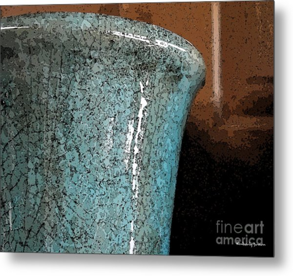 Blue Pottery Metal Print