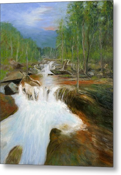Blue Ridge Runoff Metal Print by Max Mckenzie