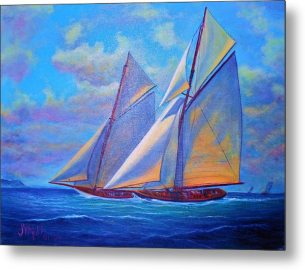 Blue Sails Metal Print