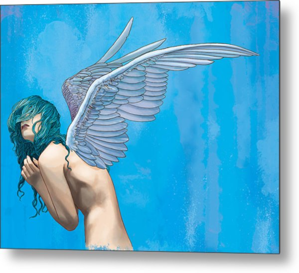 Blue Metal Print by Vincent Danks