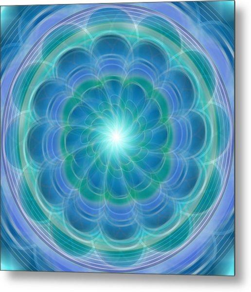 Bluefloraspin Metal Print
