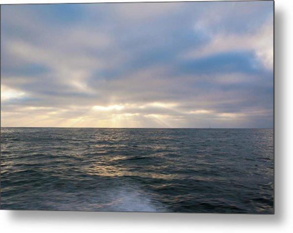 Bluegrey Sunset Metal Print