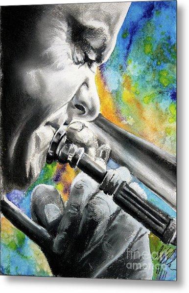Blues Trombone 1 Metal Print