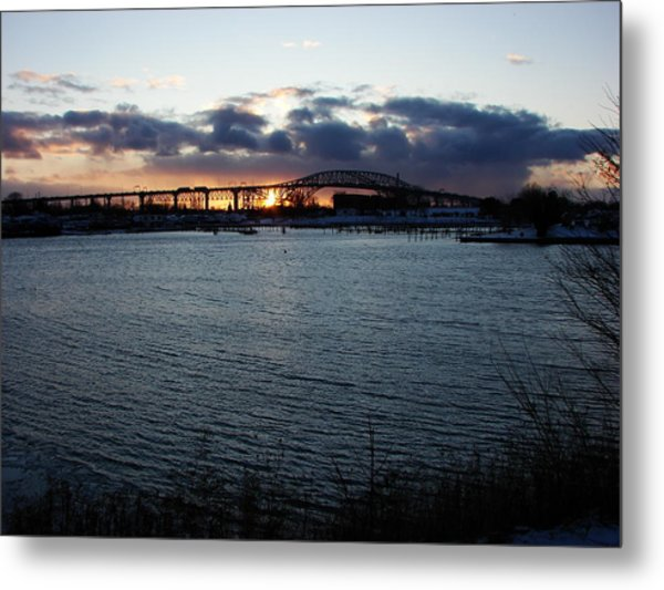 Bluewater Bridges In Winter 1 Metal Print