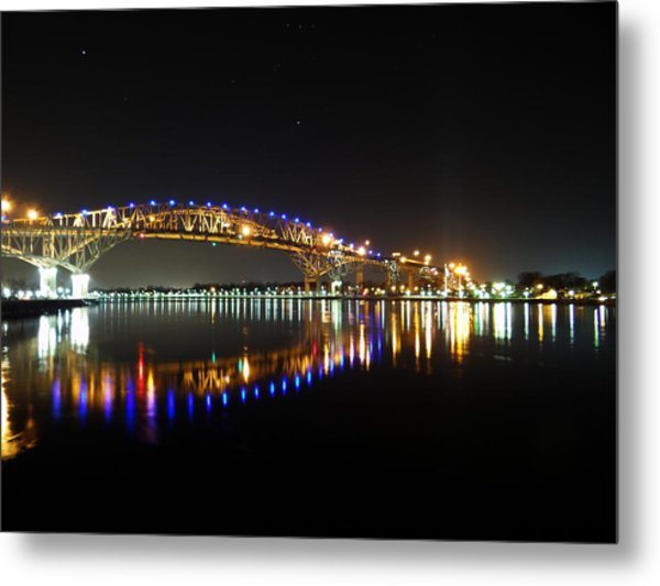 Bluewater Bridges On A Warm Spring Night Metal Print