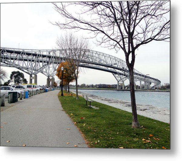 Bluewater Bridges Sarnia Port Huron Metal Print