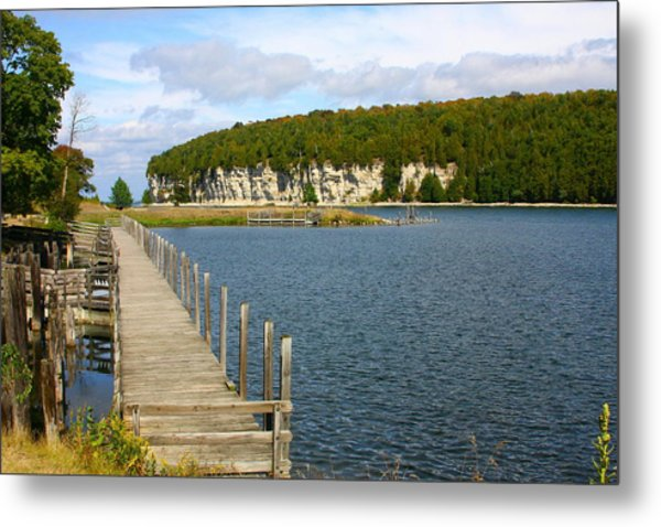 Boardwalk On A Counry Lake Metal Print by Western Roundup