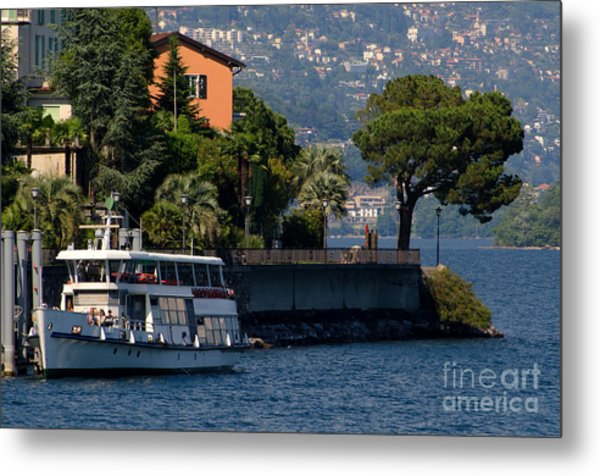 Boat And Tree Metal Print