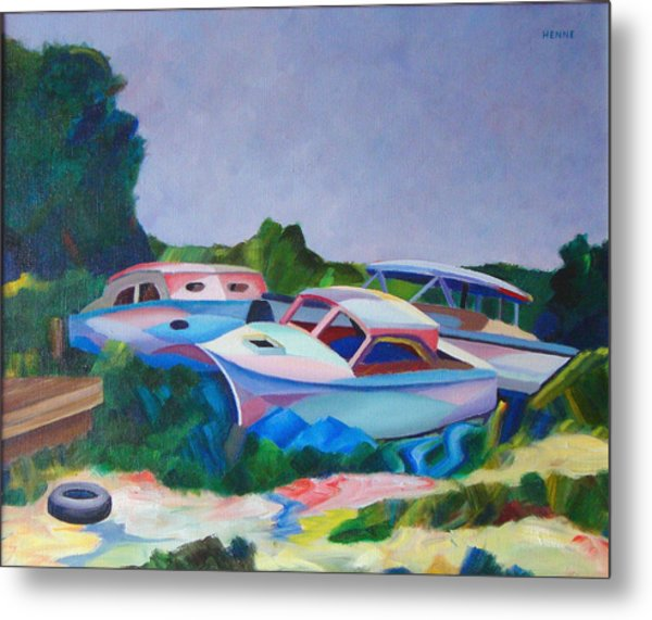 Metal Print featuring the painting Boat Dreams by Robert Henne
