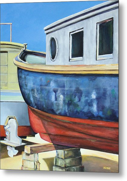 Metal Print featuring the painting Boat Hull by Robert Henne