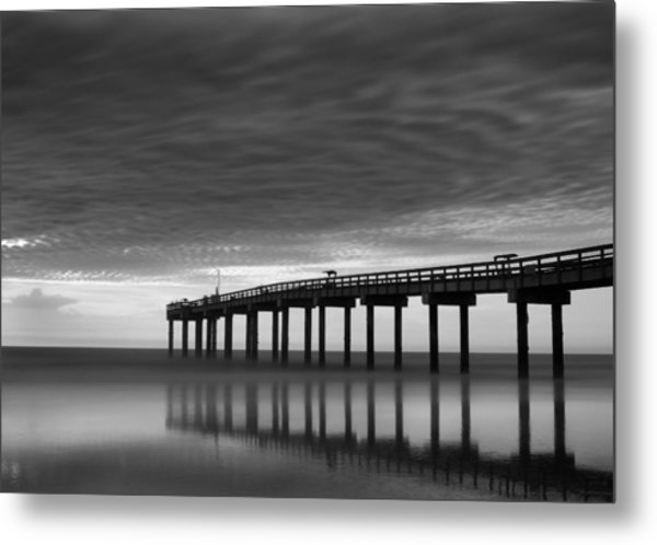 Boat In Clouds Metal Print by David Mcchesney