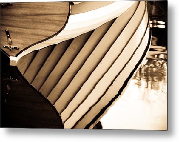 Boat Reflection Metal Print by Camille Lyver