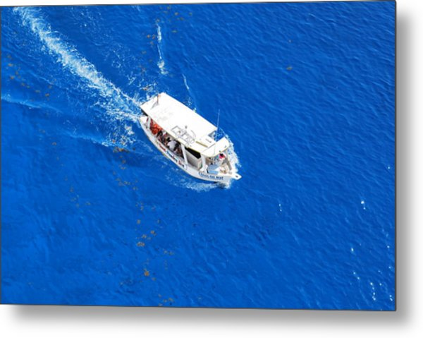 Boat Ride In Cozumel Mexico Metal Print by Charles Covington