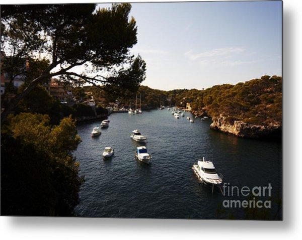 Boats In Cala Figuera Metal Print