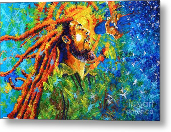 Bob Marley's Tribute Metal Print by Jose Miguel Barrionuevo