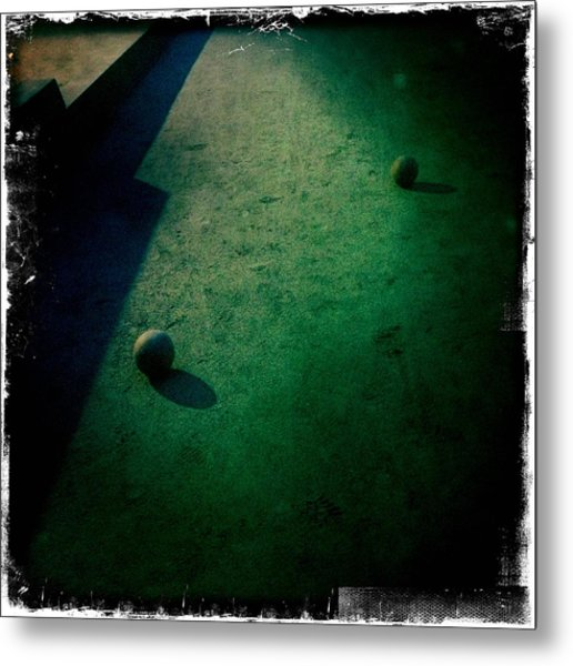 Bocce Ball Court Metal Print