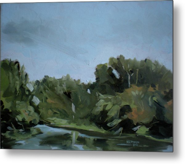 Boise River In Eagle Metal Print