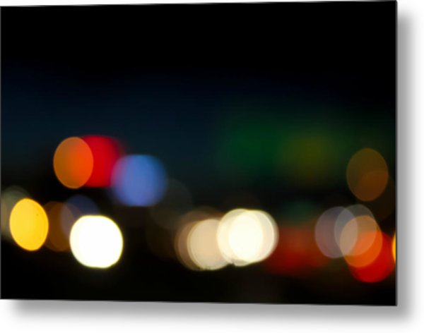 Bokeh Light Metal Print
