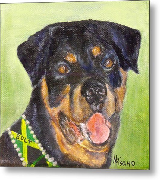 Bolt The Rottreiler Metal Print