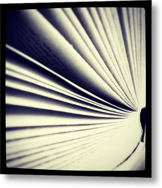 #book #reading #pages #photooftheday Metal Print