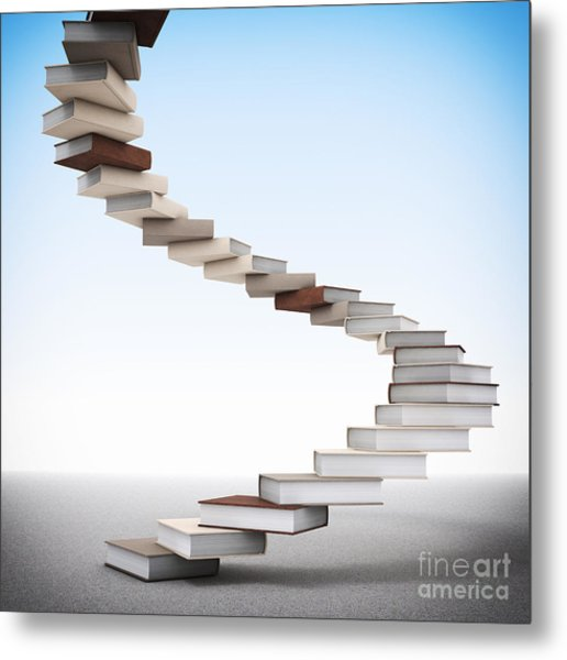 Book Stair Metal Print