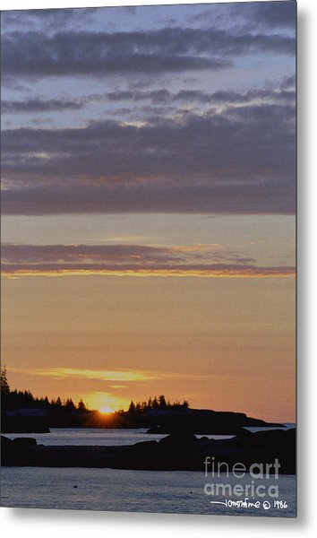 Boothbay Maine Sunrise 1 Metal Print